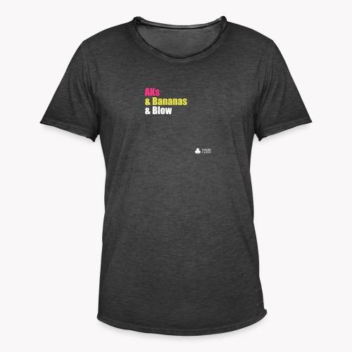 AKs & Bananas & Blow - Männer Vintage T-Shirt