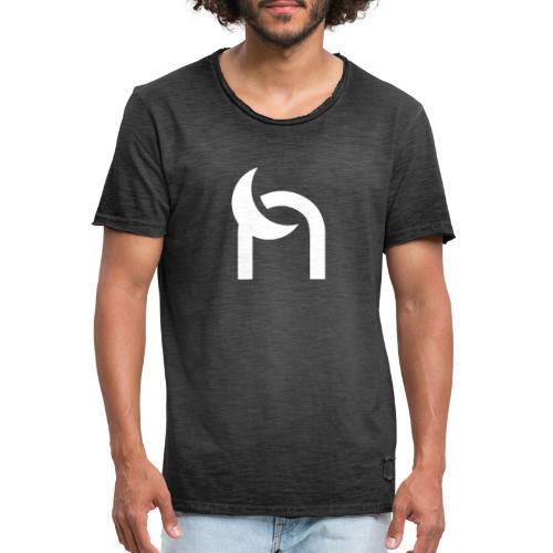 Nocturnal n logo white - Men's Vintage T-Shirt
