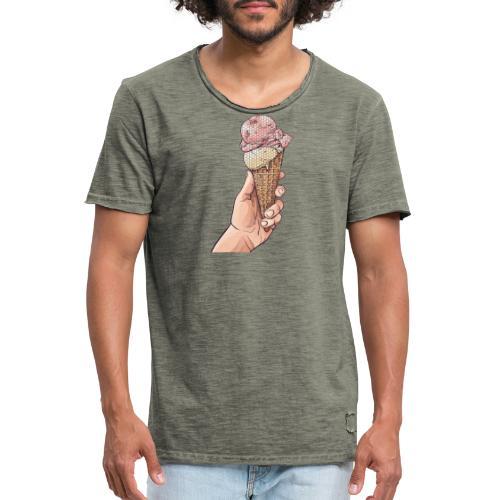 Dots Icecream - Männer Vintage T-Shirt