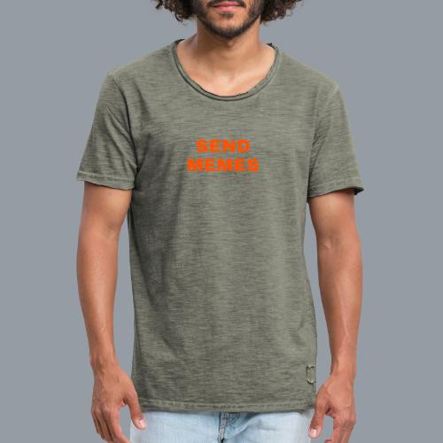 SEND MEMES - Camiseta vintage hombre
