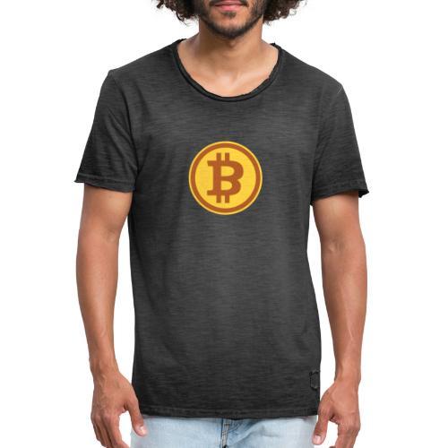 Bitcoin - Männer Vintage T-Shirt