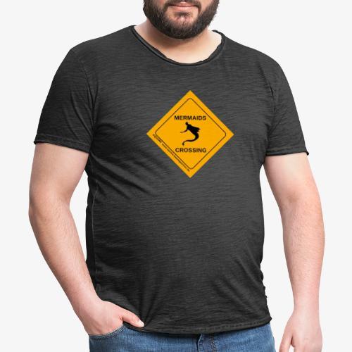 Mermaids Crossing - Männer Vintage T-Shirt