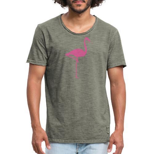 Flamingo Pink - Männer Vintage T-Shirt