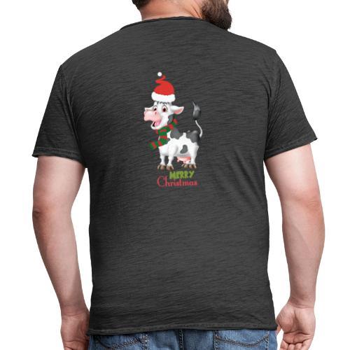 Merry Christmas - cow - Vintage-T-shirt herr