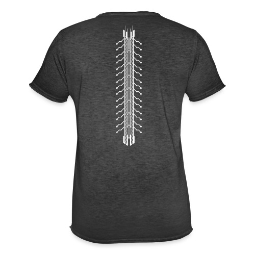 Tech Spine - Männer Vintage T-Shirt