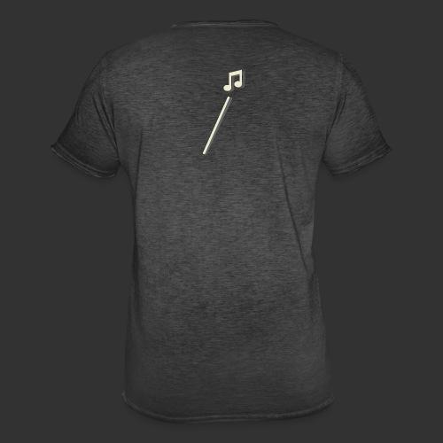 scheet muzieknoot - Mannen Vintage T-shirt