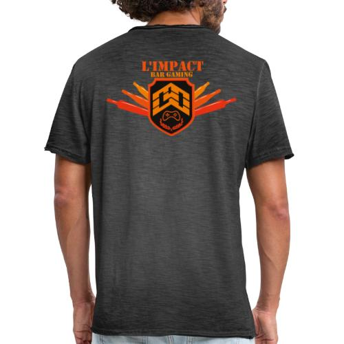 Impact Bar Gaming Store - T-shirt vintage Homme