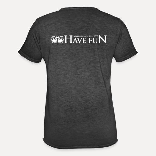 Logo Have Fun Malfurion - Männer Vintage T-Shirt