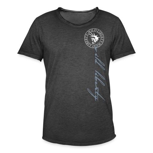wild liberty schrifft - Männer Vintage T-Shirt