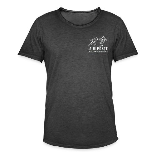 La Riposte Blanc - T-shirt vintage Homme
