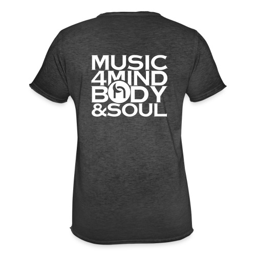 Music 4 Mind, Body & Soul White - Men's Vintage T-Shirt