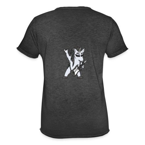 Licorne guitare metal N&B sans fond - T-shirt vintage Homme
