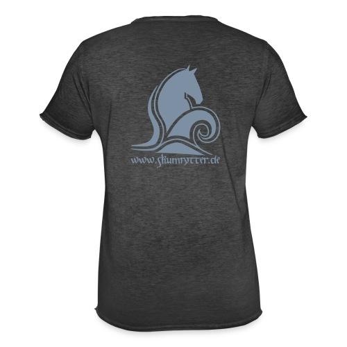 Skumrytter Logo mit Text - Männer Vintage T-Shirt
