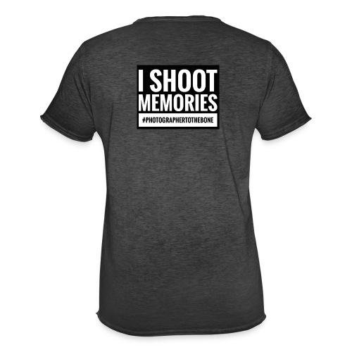 I SHOOT MEMORIES, #photographertothebone - Herre vintage T-shirt