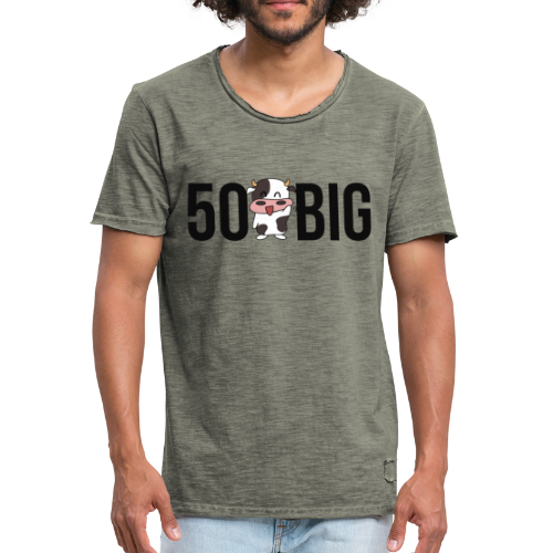 50 Kuh Big I NEW 2K18 - Männer Vintage T-Shirt