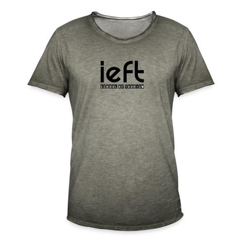 LOGO IEFT Noir - T-shirt vintage Homme