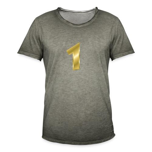 nummer 1 - Männer Vintage T-Shirt
