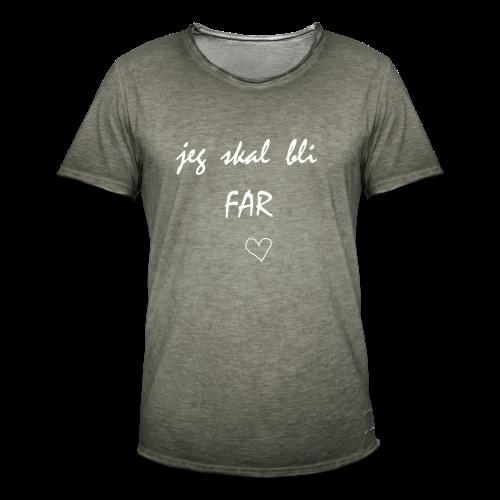 Far Collection - Vintage-T-skjorte for menn
