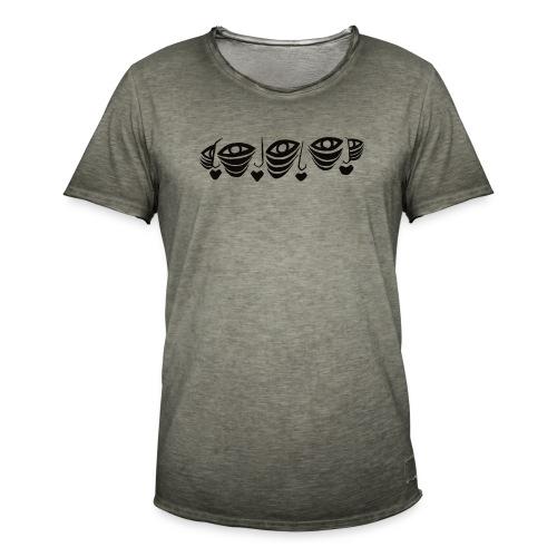 Faces Connected Illustration Version 2 - Men's Vintage T-Shirt