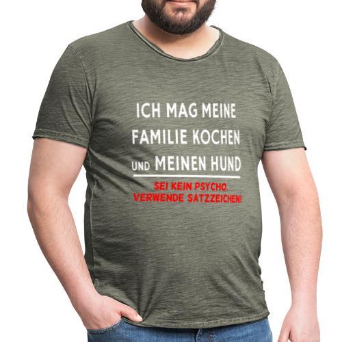 Satzzeichen - Männer Vintage T-Shirt