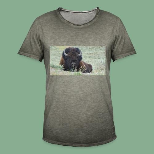 Bison - T-shirt vintage Homme