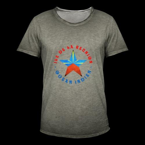 Collection Etoile Lo Mahavéli drapeau régional - T-shirt vintage Homme