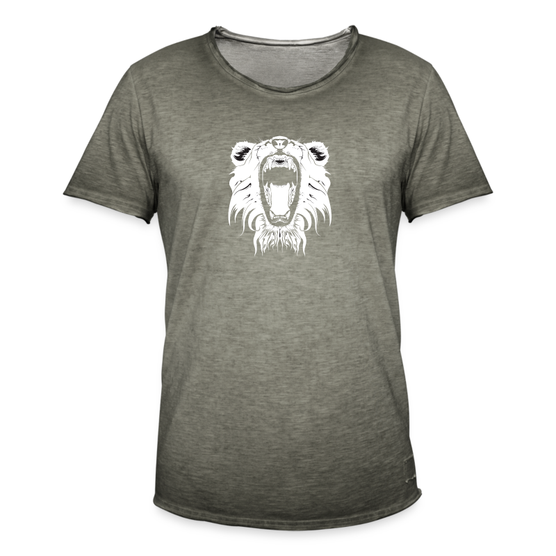 Lion Collection - Vintage-T-skjorte for menn