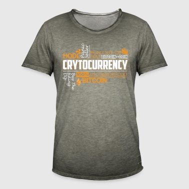 CRYTOCURRENCY - Herre vintage T-shirt