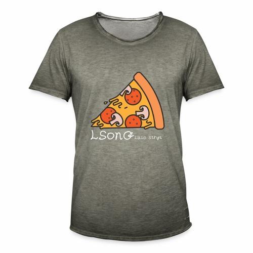LSonG pizza pic - Männer Vintage T-Shirt