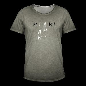 Miami Collection - Vintage-T-skjorte for menn