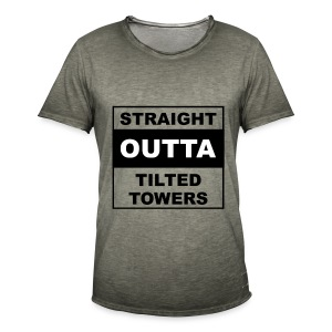Straight outta tilted towers - Mannen Vintage T-shirt