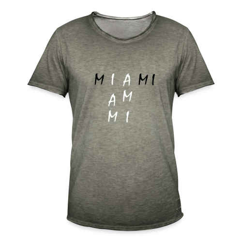 Miami Collection - Vintage-T-skjorte for menn