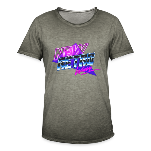 New Retro Wave - Mannen Vintage T-shirt