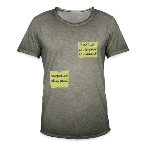 humoristique post-it - T-shirt vintage Homme