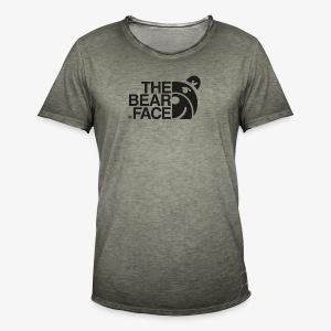 The Bear Face T-shirt (Black) - Camiseta vintage hombre