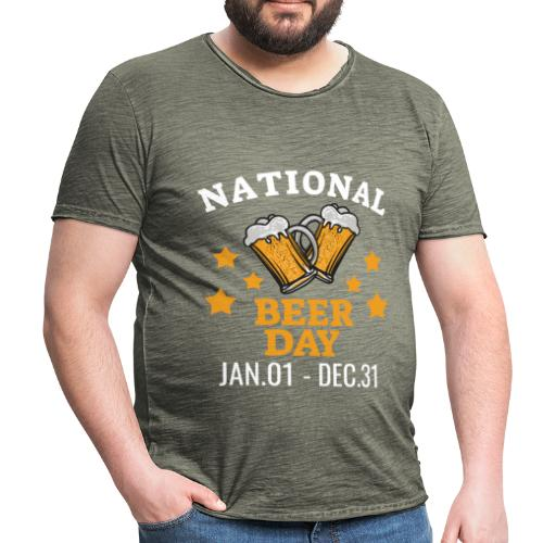 national beer day - Miesten vintage t-paita