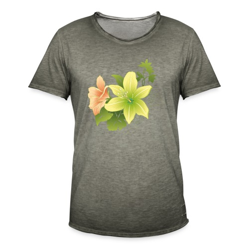 milos flor - Camiseta vintage hombre