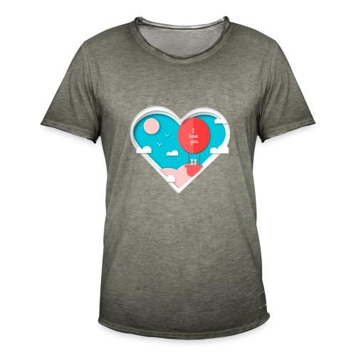 Koszulka miłość 12 - Koszulka męska vintage