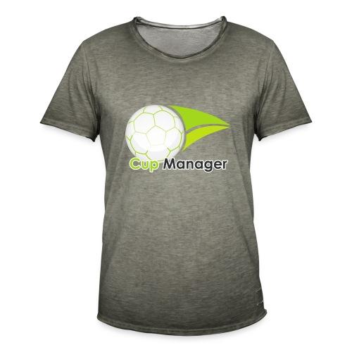 Cup Manager Vertikal Logo - Vintage-T-shirt herr