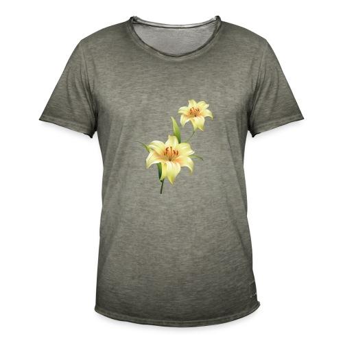 flor - Camiseta vintage hombre