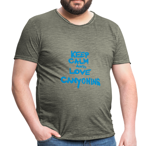 keep calm and love canyoning - Männer Vintage T-Shirt