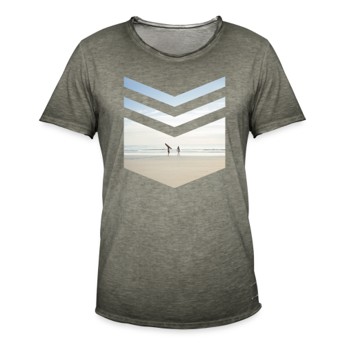 Surf Beach Triangle - Männer Vintage T-Shirt