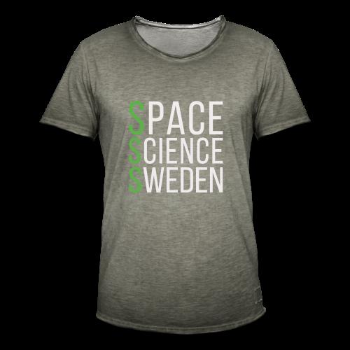 Space Science Sweden - vit - Vintage-T-shirt herr