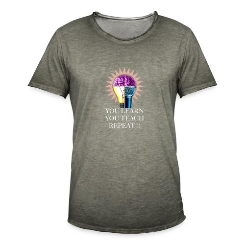 You Learn Svart T-shirt - Vintage-T-shirt herr
