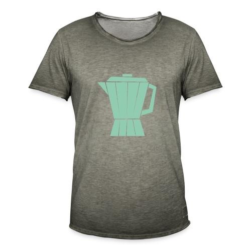 Koffie - Mannen Vintage T-shirt