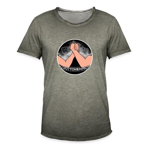 Luottohemmot_uusi - Miesten vintage t-paita