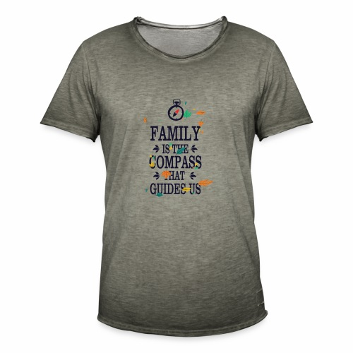 Family is the Compass that Guides US - Men's Vintage T-Shirt