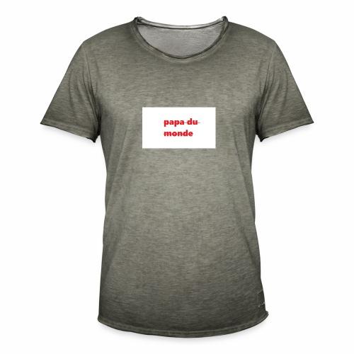 meilleur papa du monde - T-shirt vintage Homme