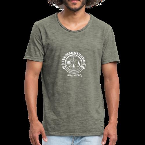 geweihbär Seemannsgarn 3 weiss - Männer Vintage T-Shirt