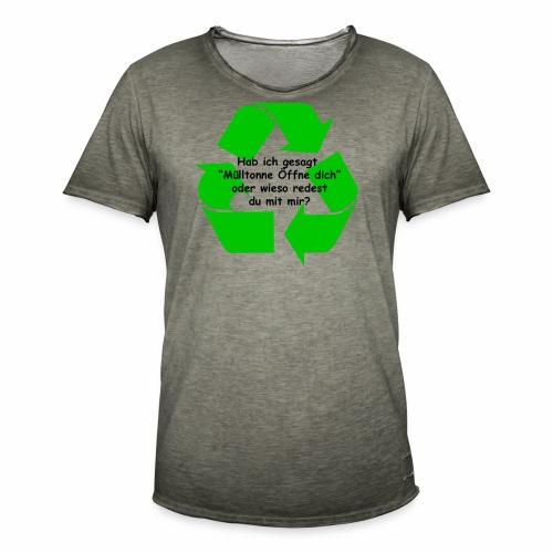 Mülltonne Öffne dich - Männer Vintage T-Shirt